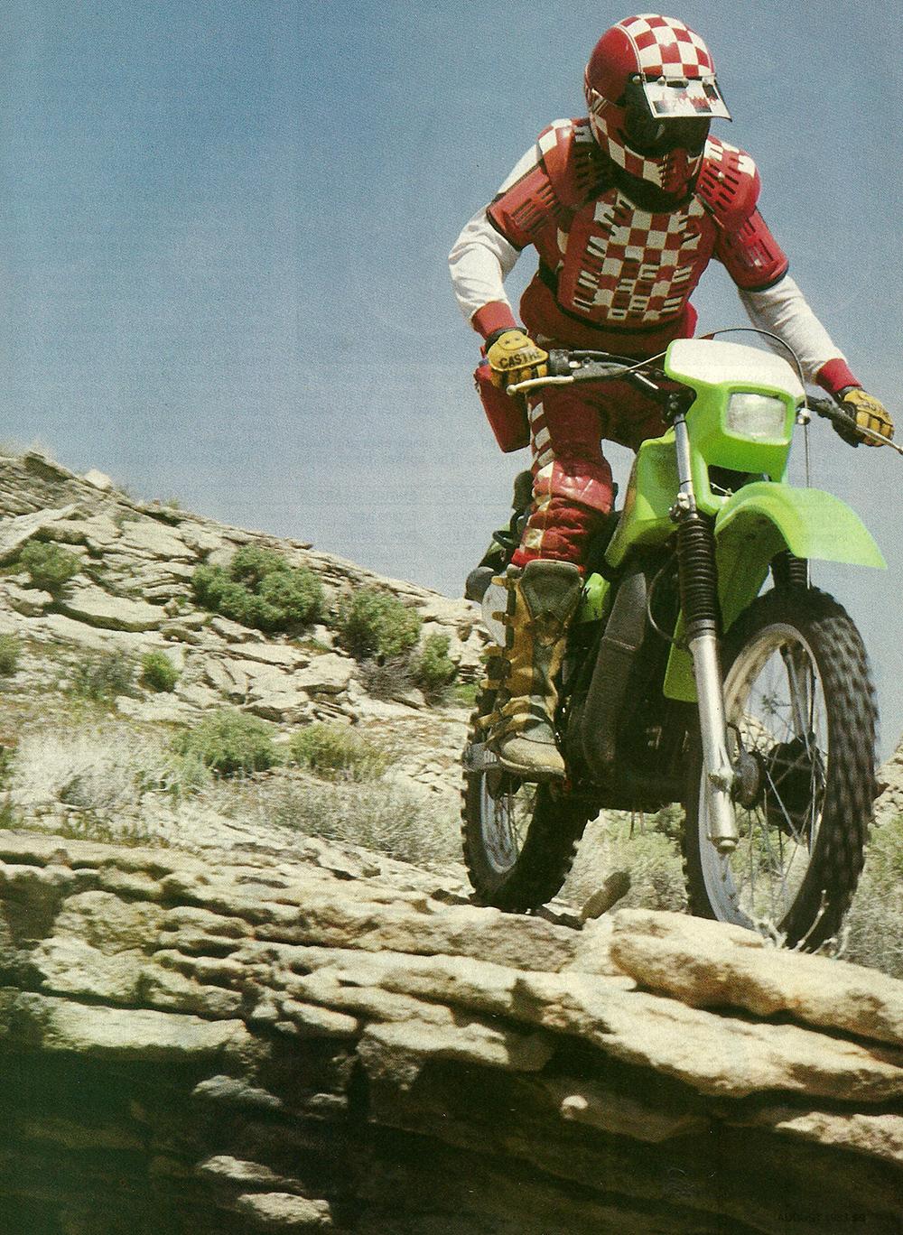 1983 Kawasaki KDX200 road test 02.jpg