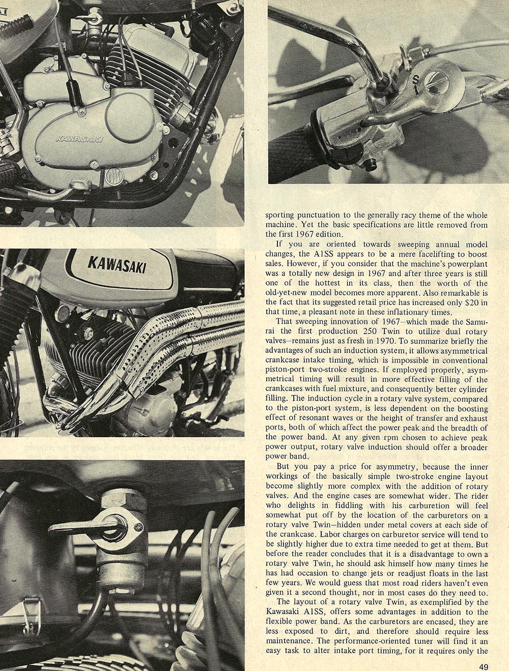 1970 Kawasaki Samurai A1SS road test 02.jpg