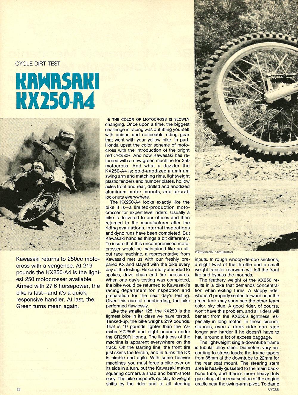 1978 Kawasaki KX250 A4 road test 01.jpg