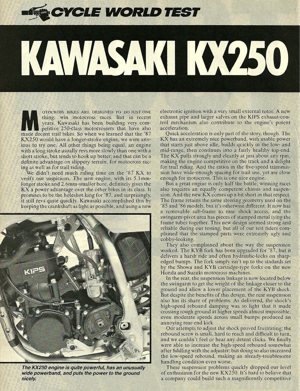 1987 Kawasaki KX250 road test 01.jpg