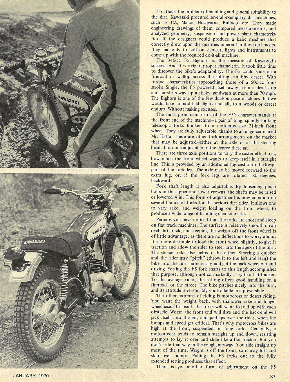 1970 Kawasaki F5 Bighorn road test 02.jpg