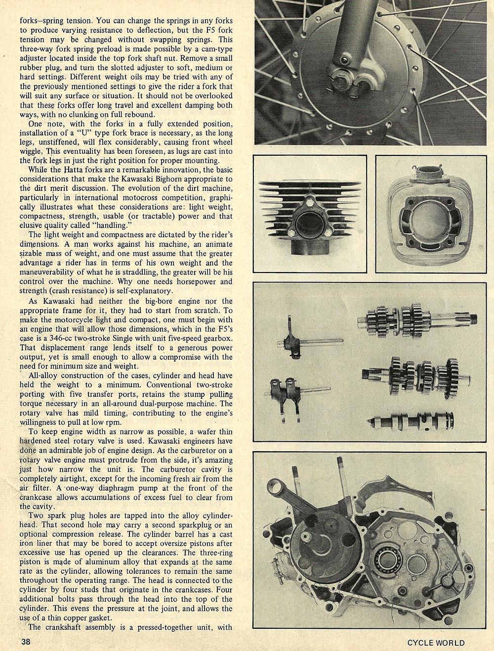 1970 Kawasaki F5 Bighorn road test 03.jpg