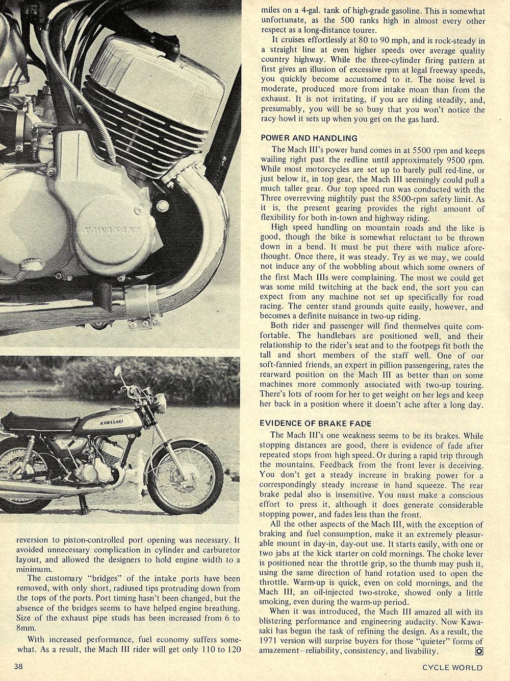 1971 Kawasaki Mach 3 road test 03.jpg