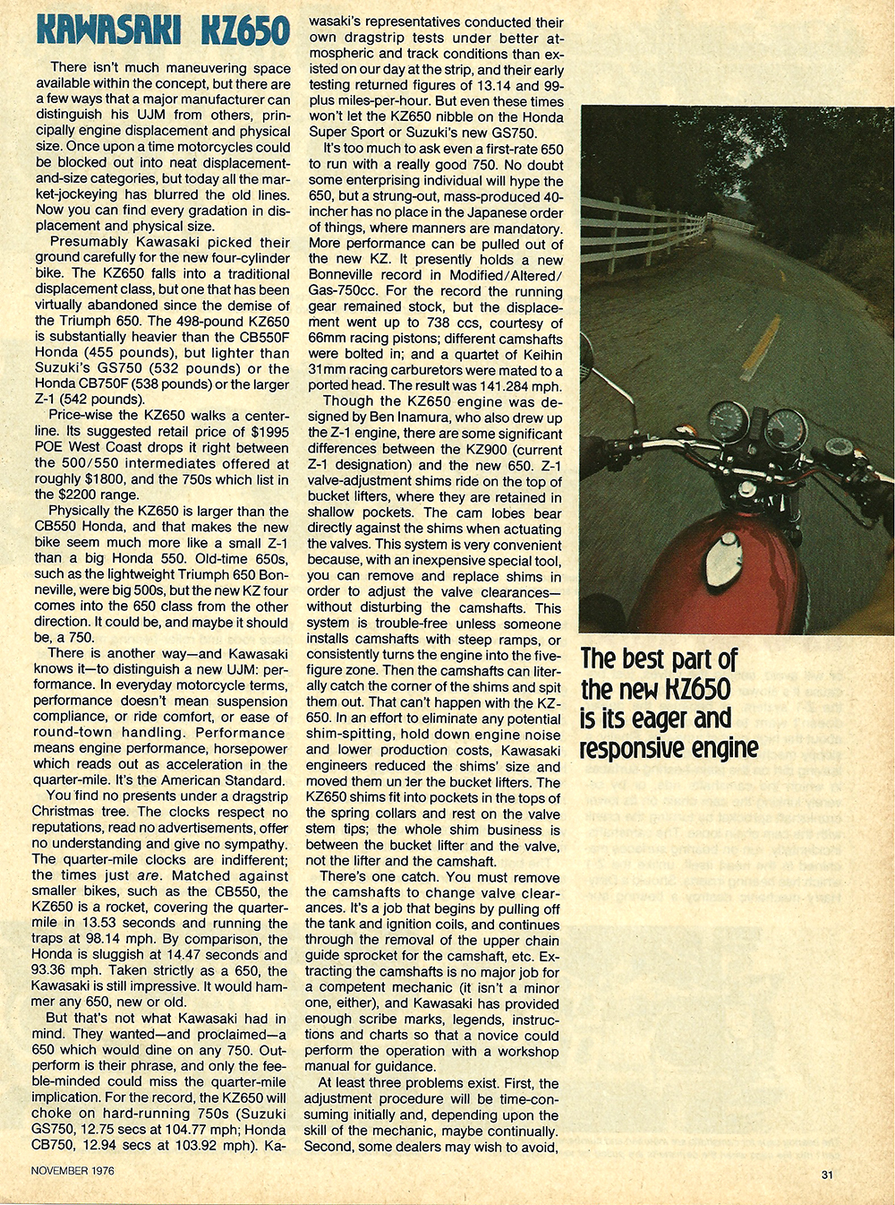1976 Kawasaki KZ650 road test 04.jpg