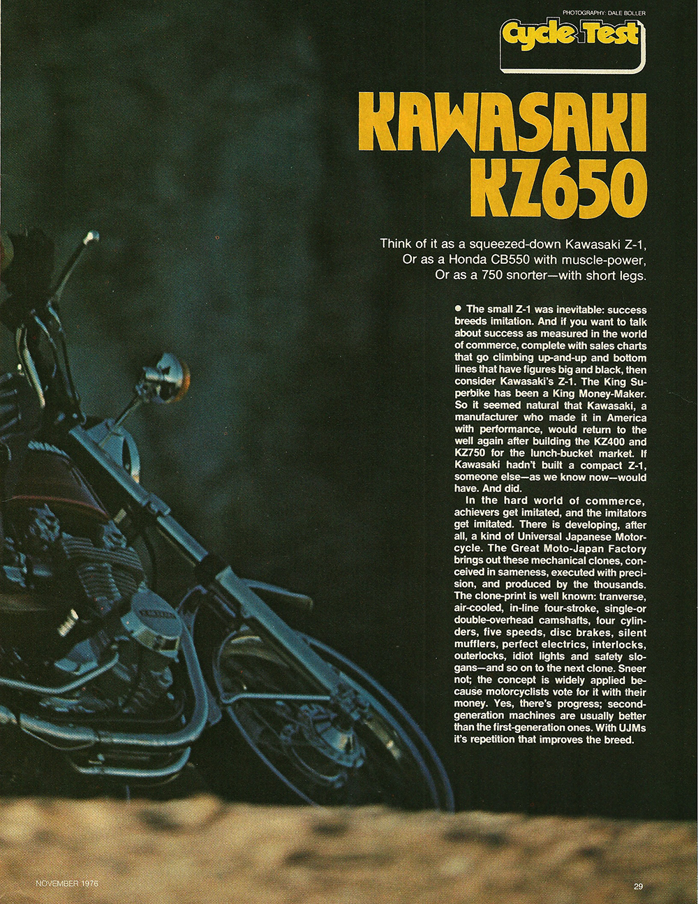 1976 Kawasaki KZ650 road test 02.jpg