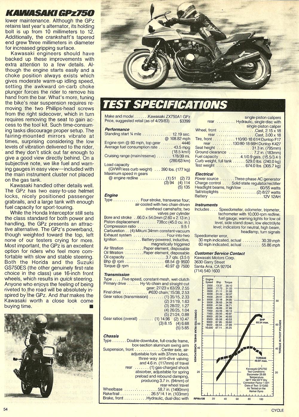1983 Kawasaki GPz 750 road test 7.jpg