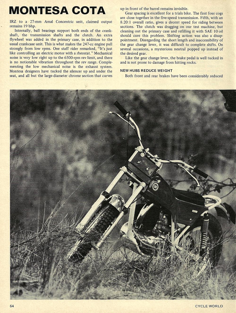 1971 Montesa Cota 247 road test 03.jpg