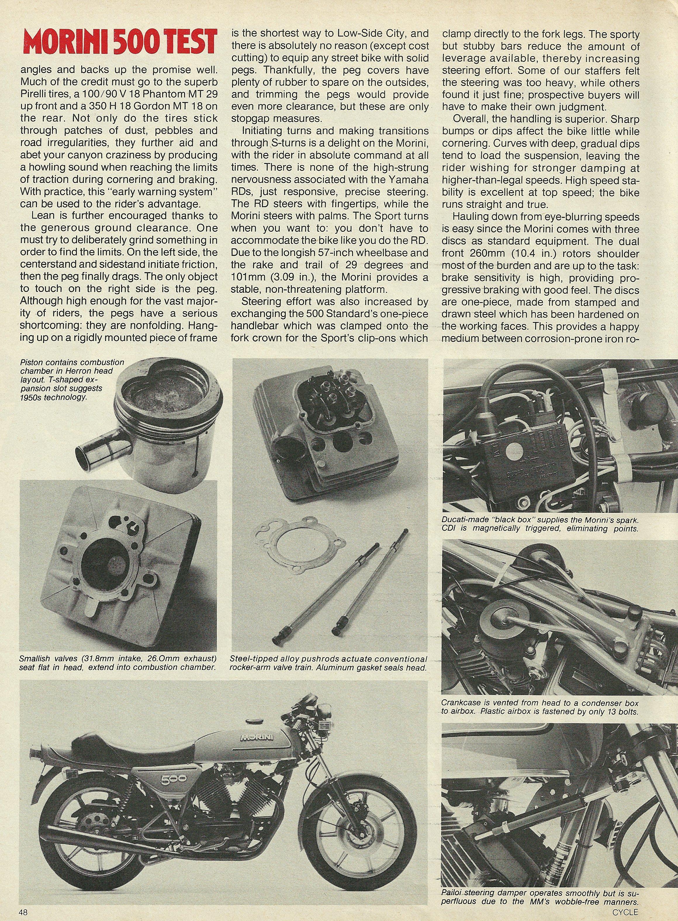 1980 Moto Morini 500 Sport road test 3.JPG