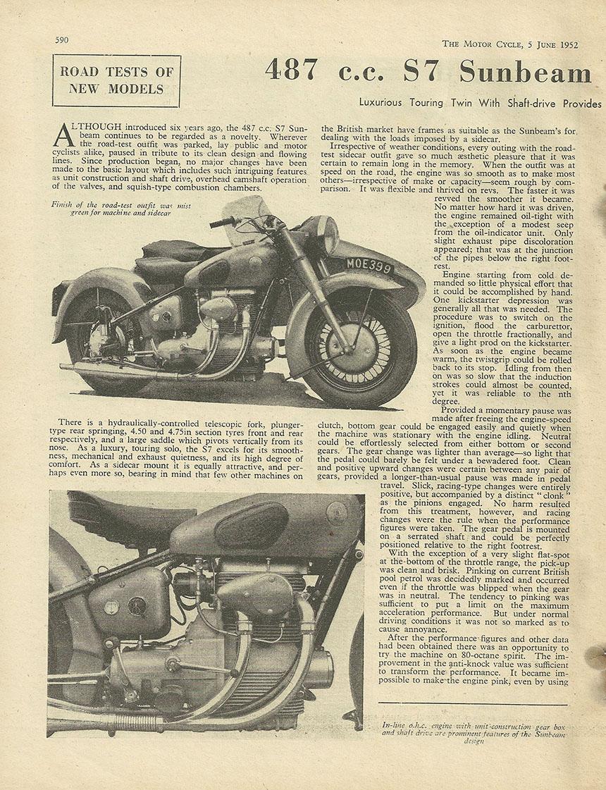 1952 Sunbeam 487cc S7 road test 1.JPG