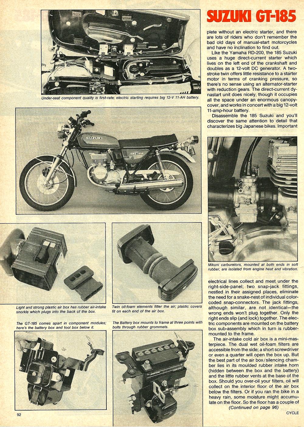 1976 Suzuki GT185 road test 5.jpg