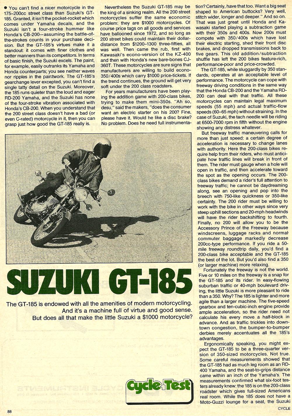 1976 Suzuki GT185 road test 1.jpg