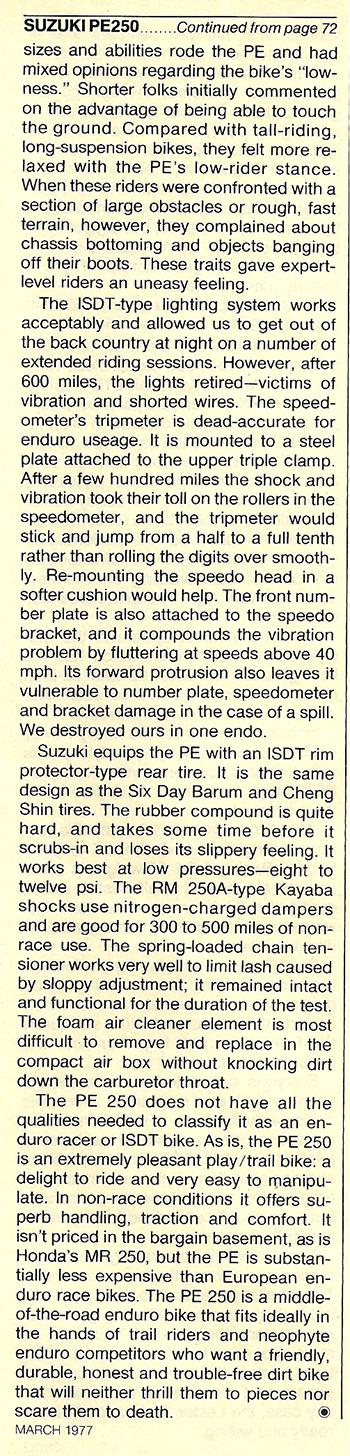 1977 Suzuki PE250 road test 7.jpg