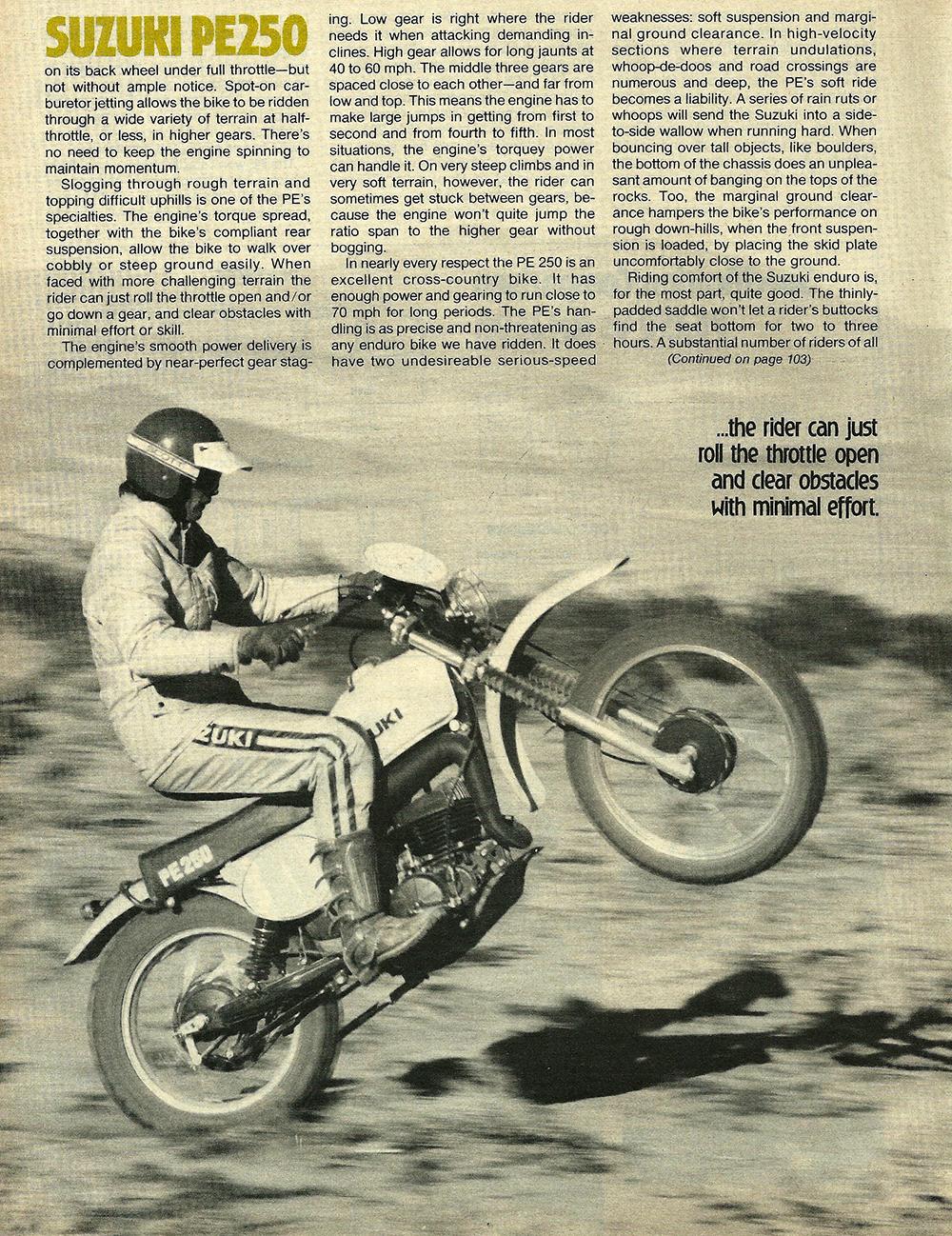 1977 Suzuki PE250 road test 5.jpg