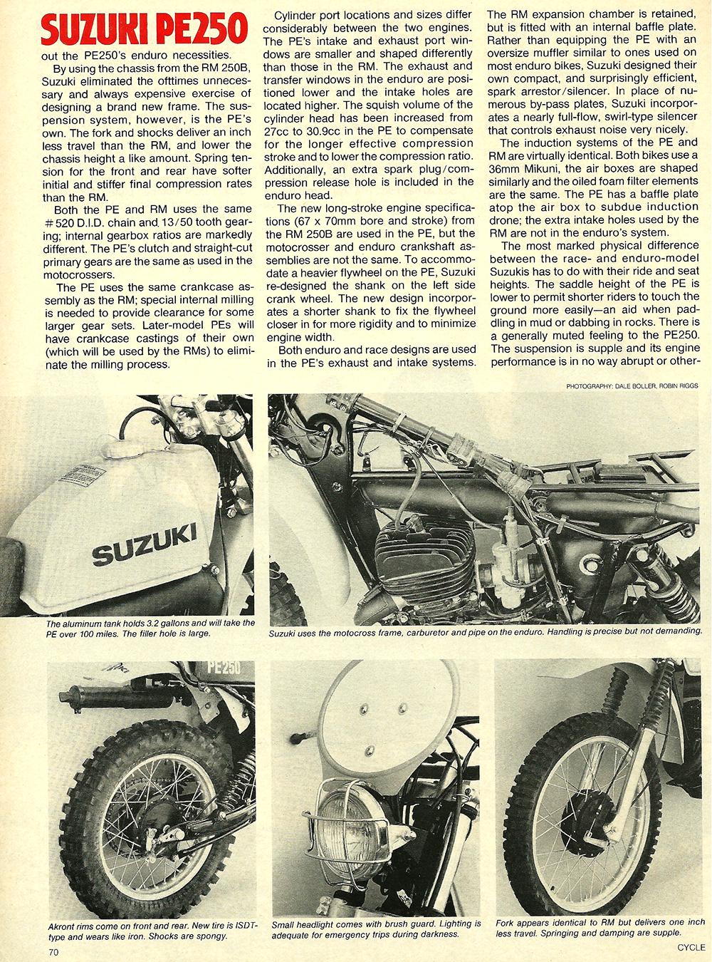 1977 Suzuki PE250 road test 3.jpg