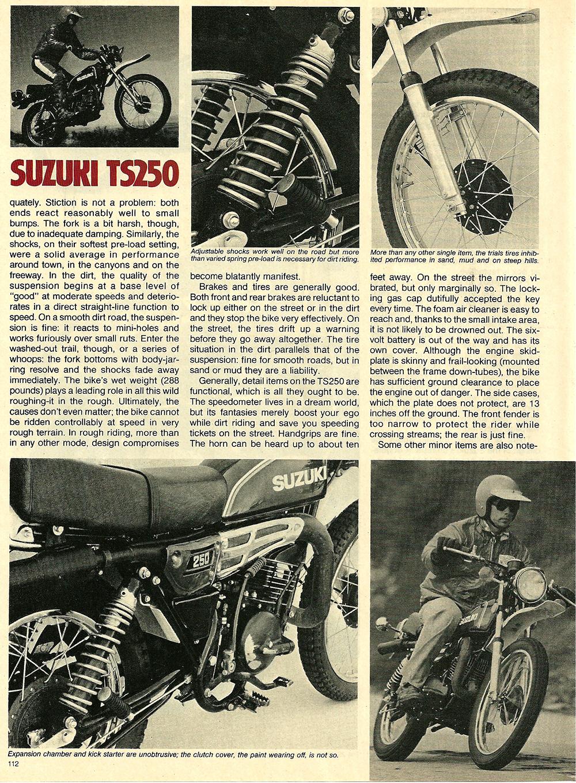 1978 Suzuki TS250 road test 04.jpg