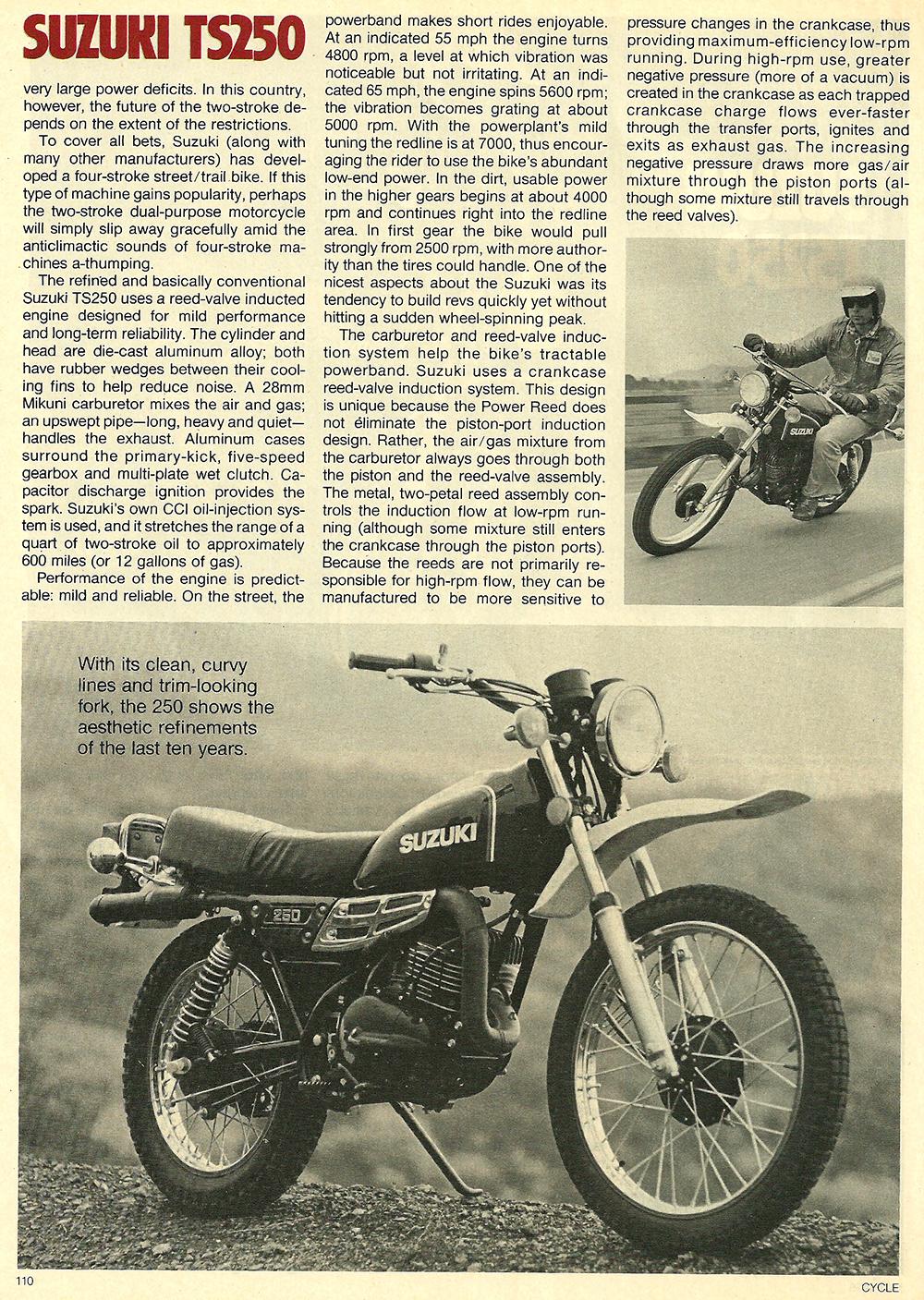 1978 Suzuki TS250 road test 02.jpg