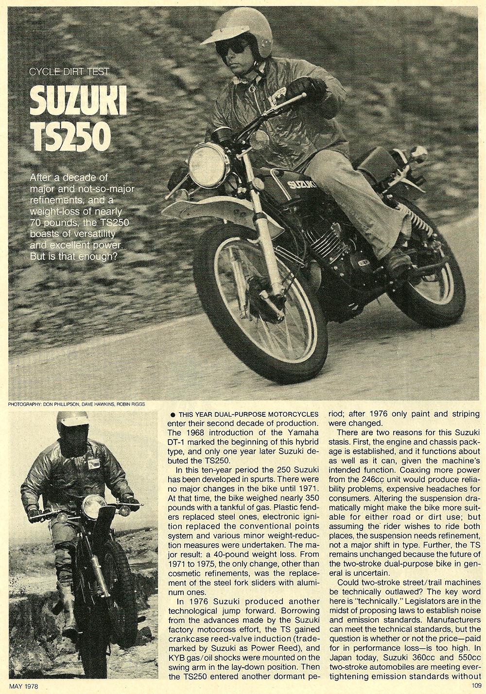 1978 Suzuki TS250 road test 01.jpg