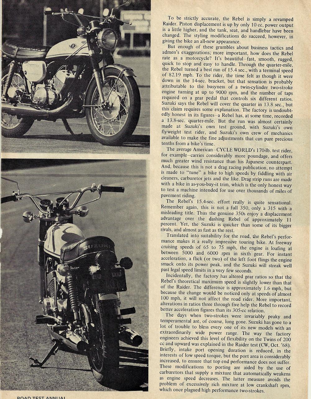 1969 Suzuki T350 Rebel road test 2.jpg