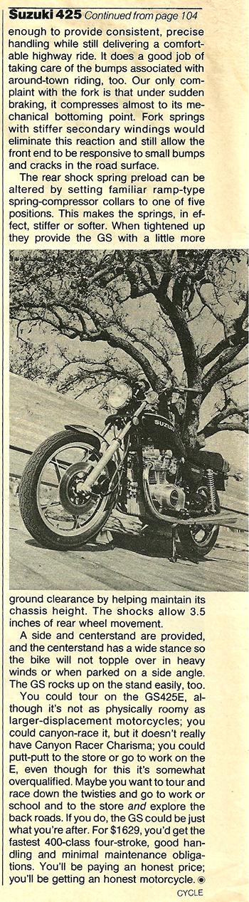 1979 Suzuki GS425E road test 08.jpg