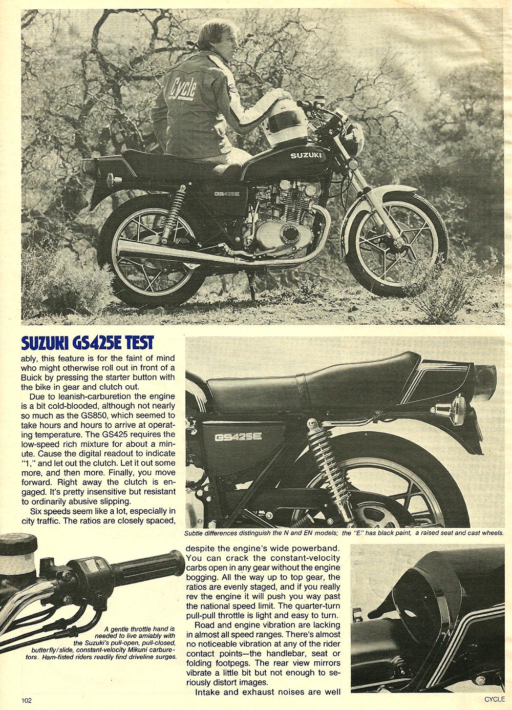 1979 Suzuki GS425E road test 05.jpg