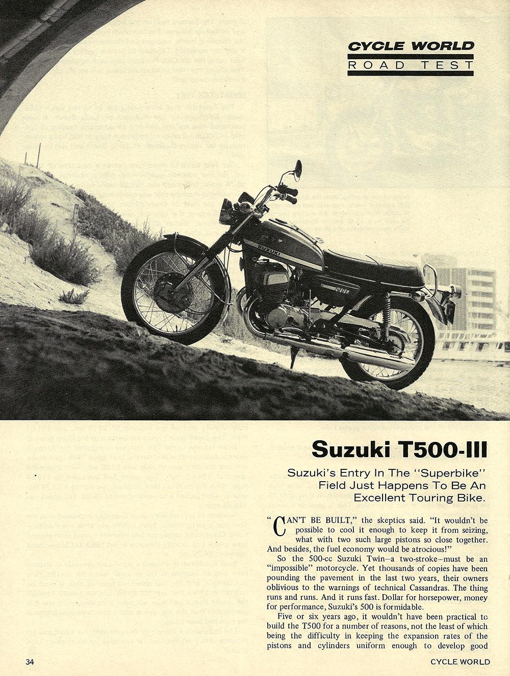 1970 Suzuki T500 III road test 01.jpg