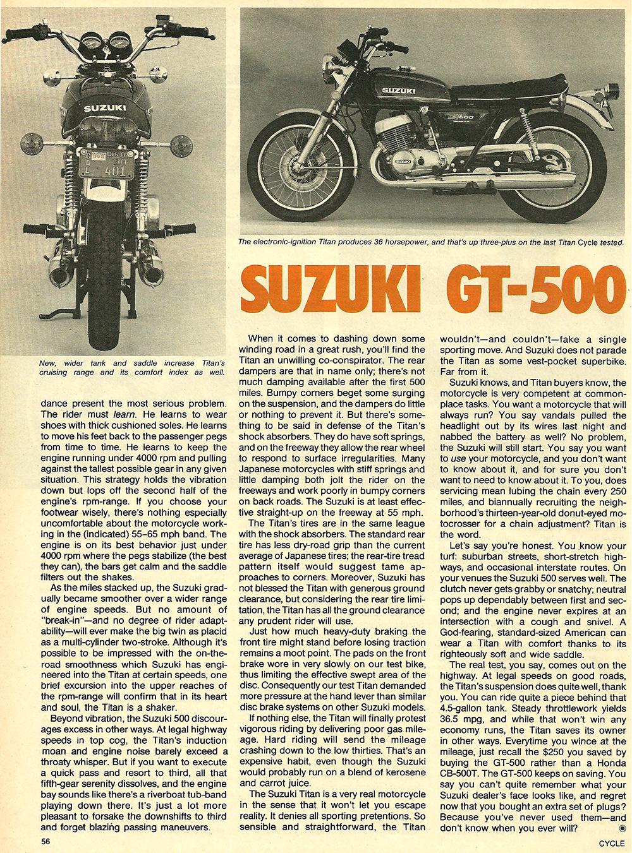 1976 Suzuki GT500 road test 5.jpg