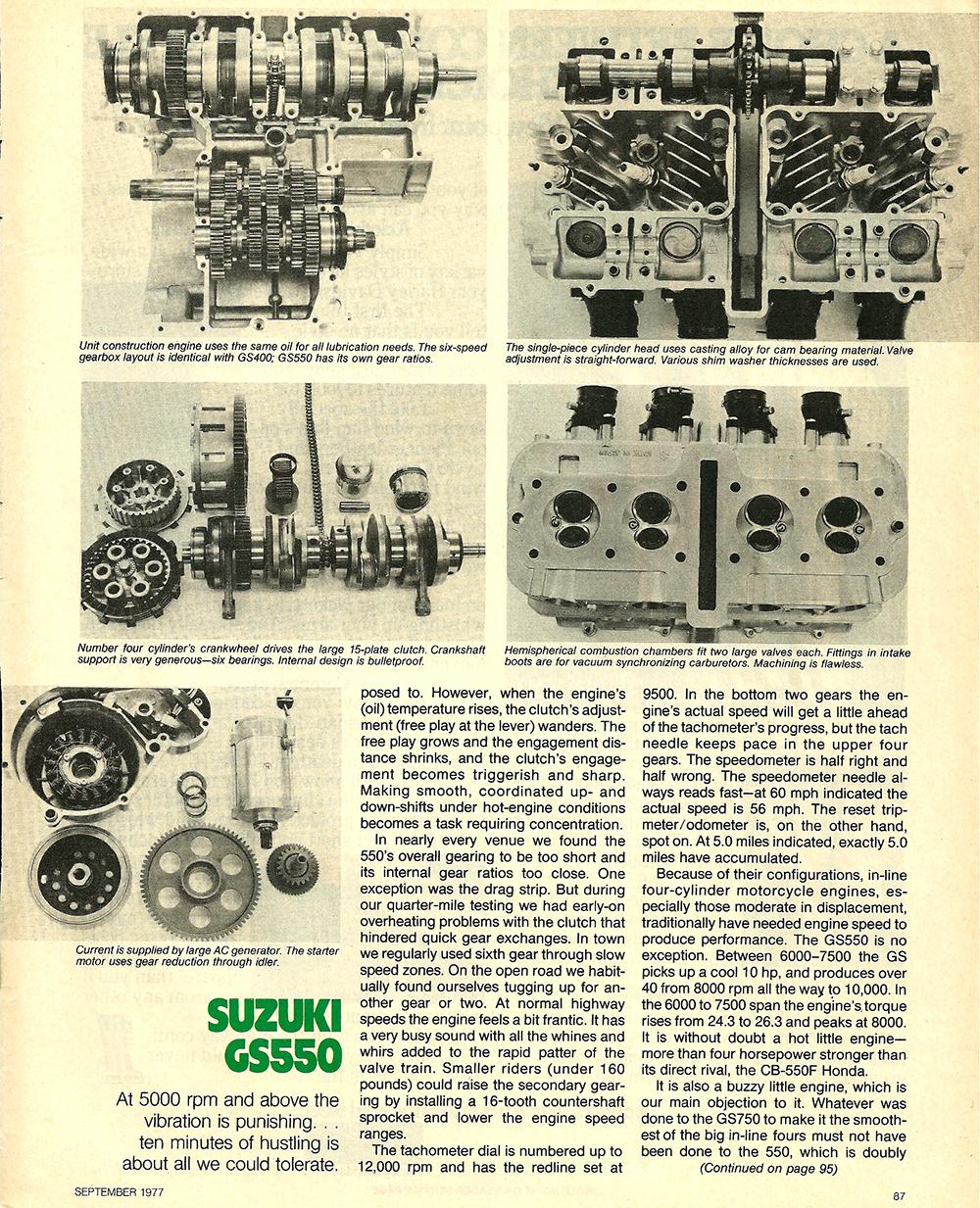 1977 Suzuki GS550 road test 06.jpg