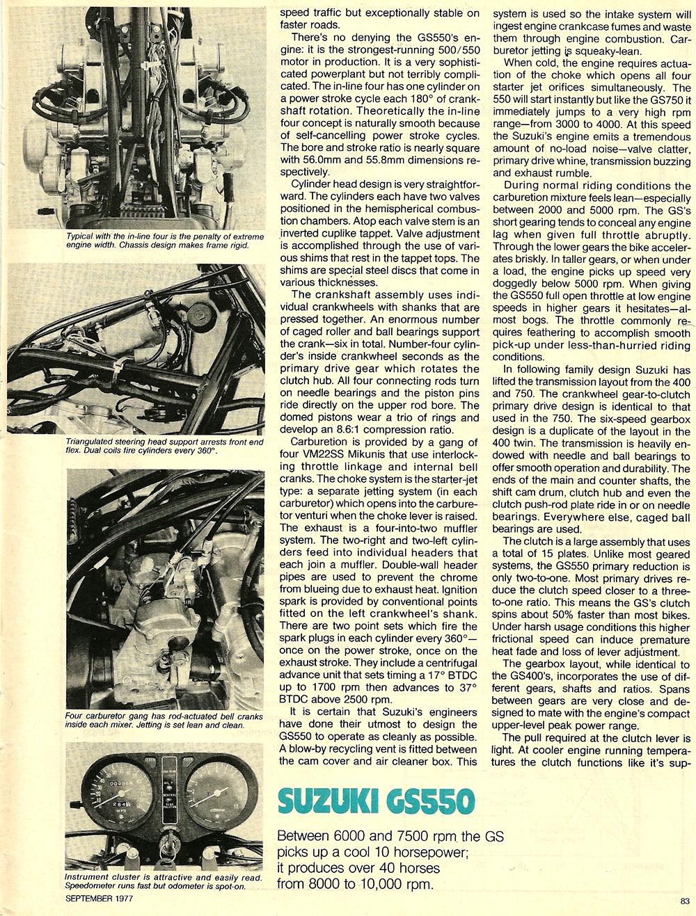 1977 Suzuki GS550 road test 04.jpg