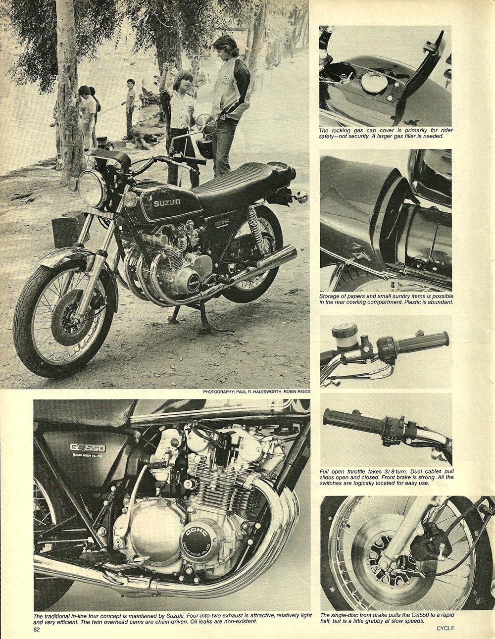 1977 Suzuki GS550 road test 03.jpg