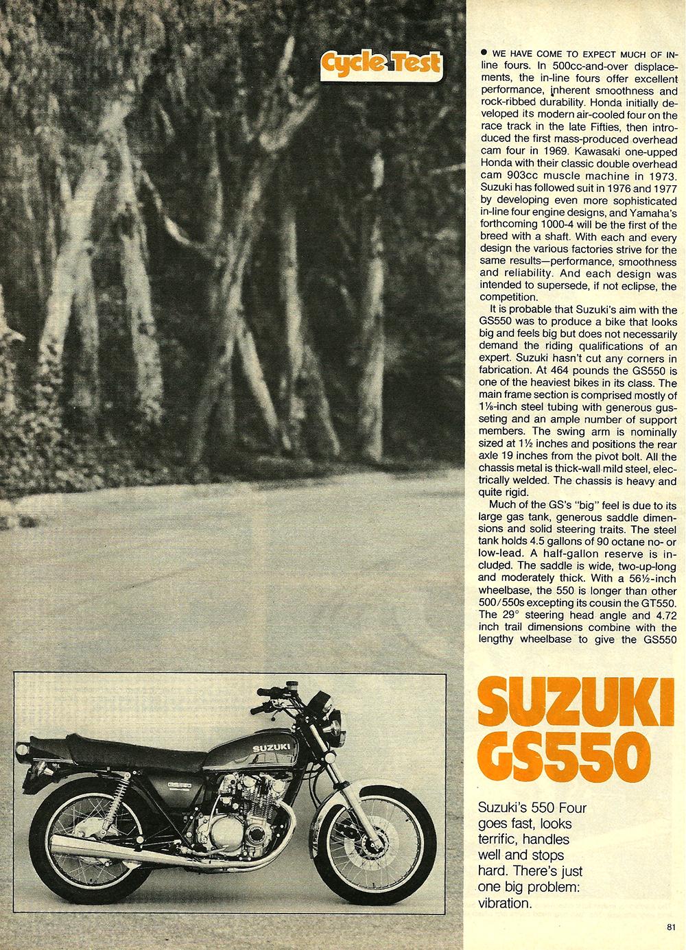 1977 Suzuki GS550 road test 02.jpg
