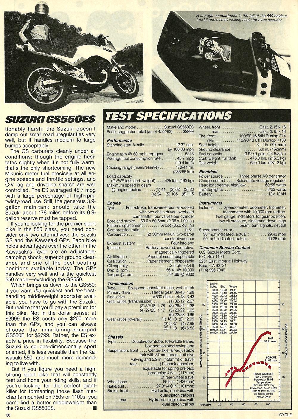 1983 Suzuki GS550ES road test 7.jpg
