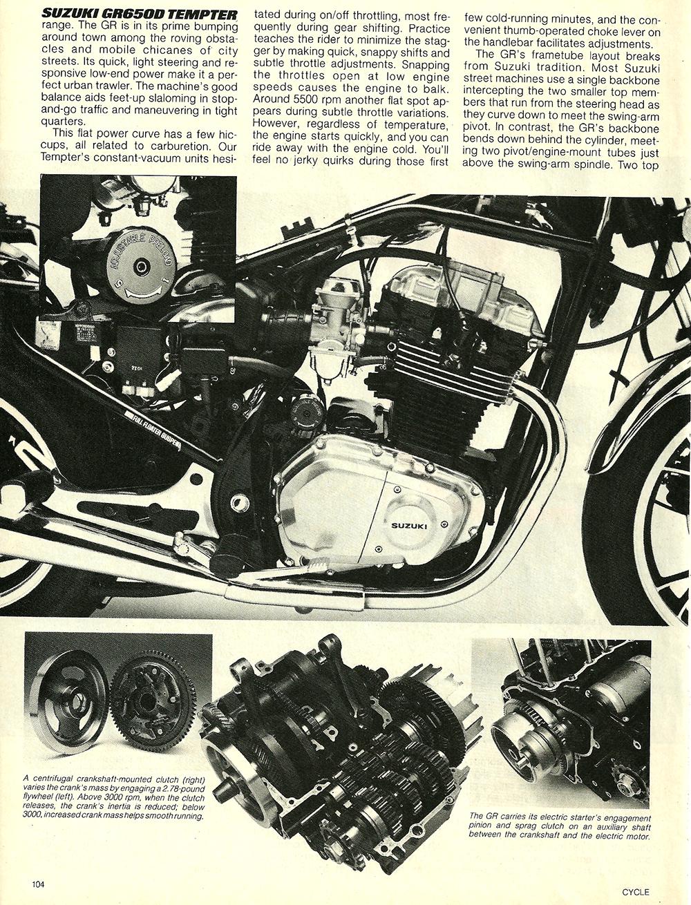 1983 Suzuki GR650D Tempter road test 5.jpg