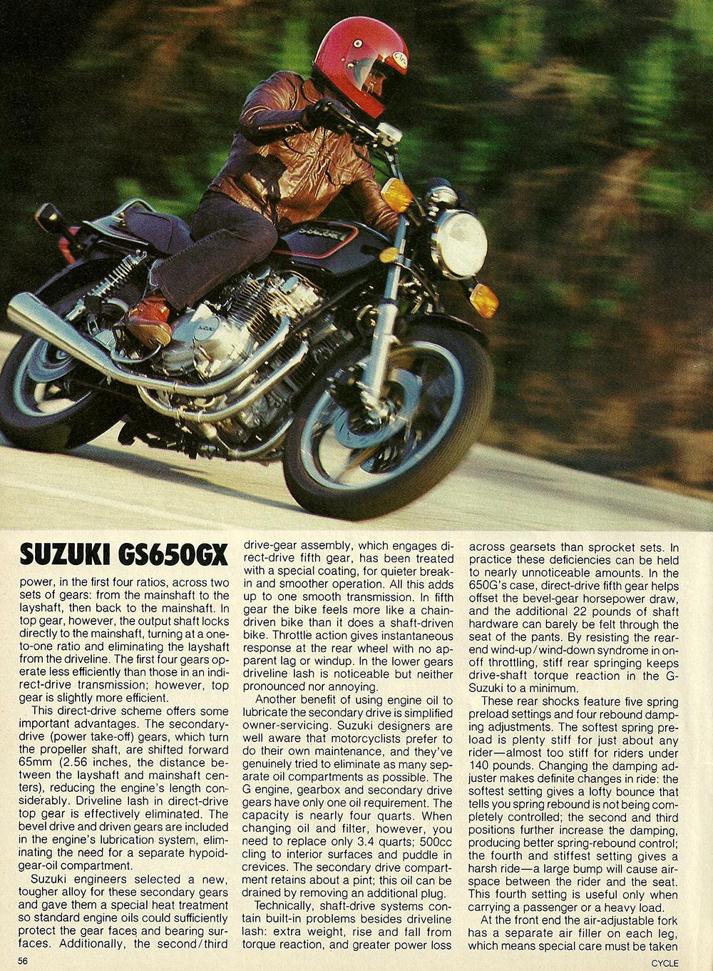 1981 Suzuki GS650 GX road test 03.jpg
