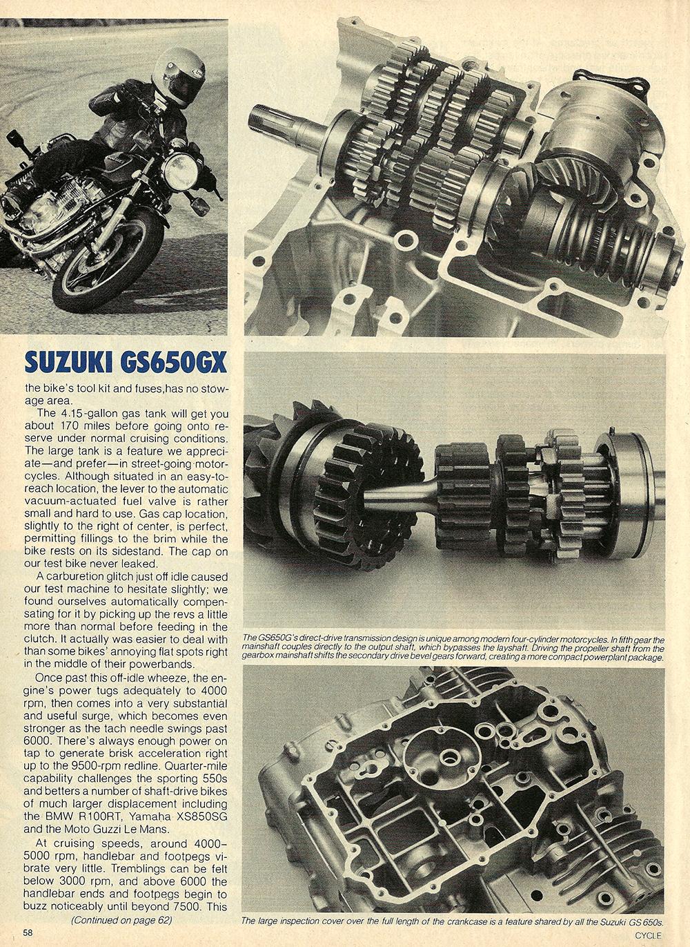 1981 Suzuki GS650 GX road test 05.jpg