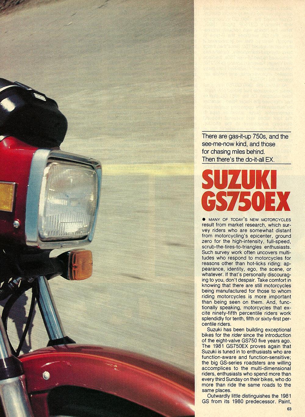 1981 Suzuki GS750 EX road test 02.jpg
