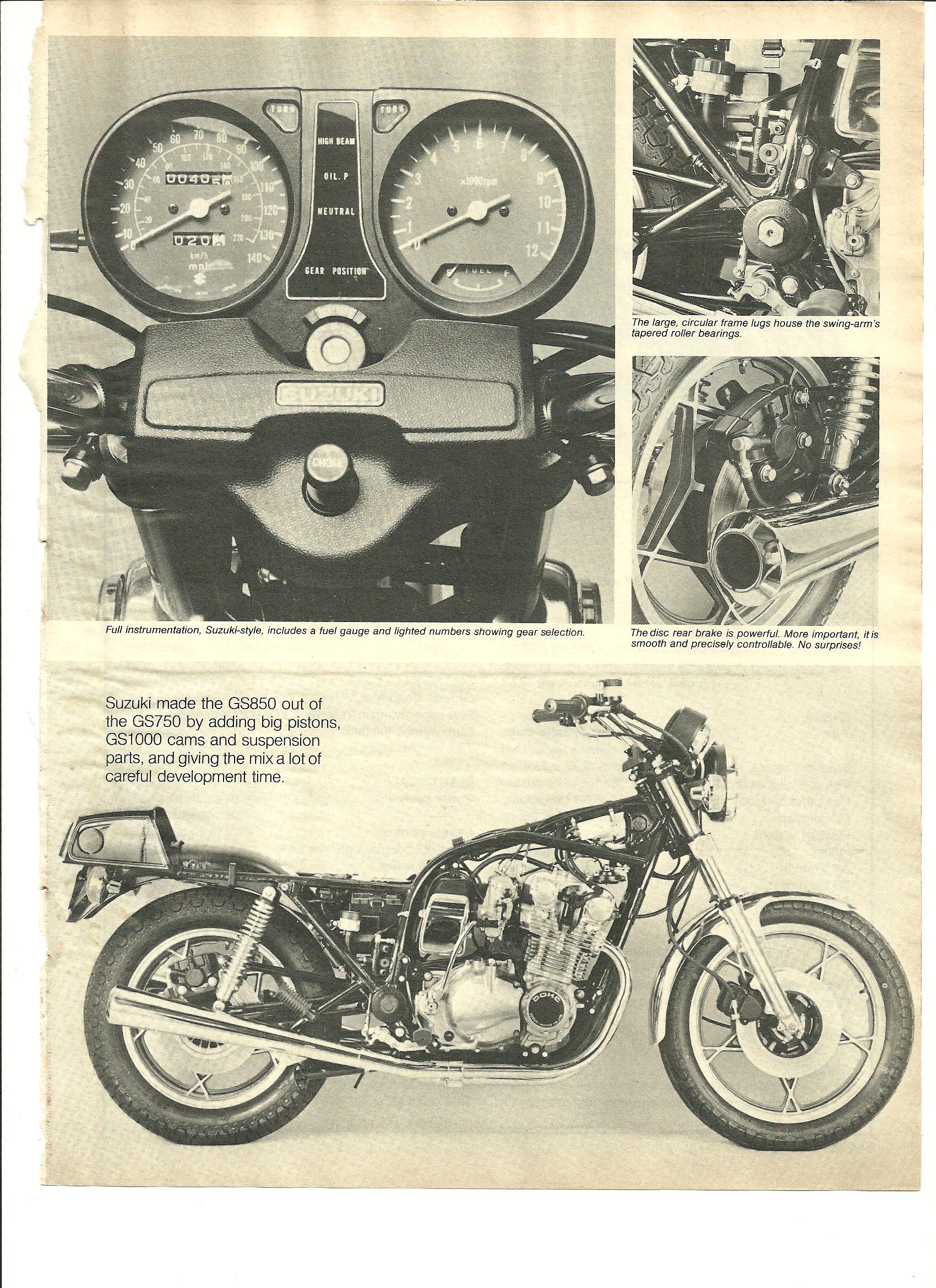 1979 Suzuki GS850 road test — Ye Olde Cycle Shoppe