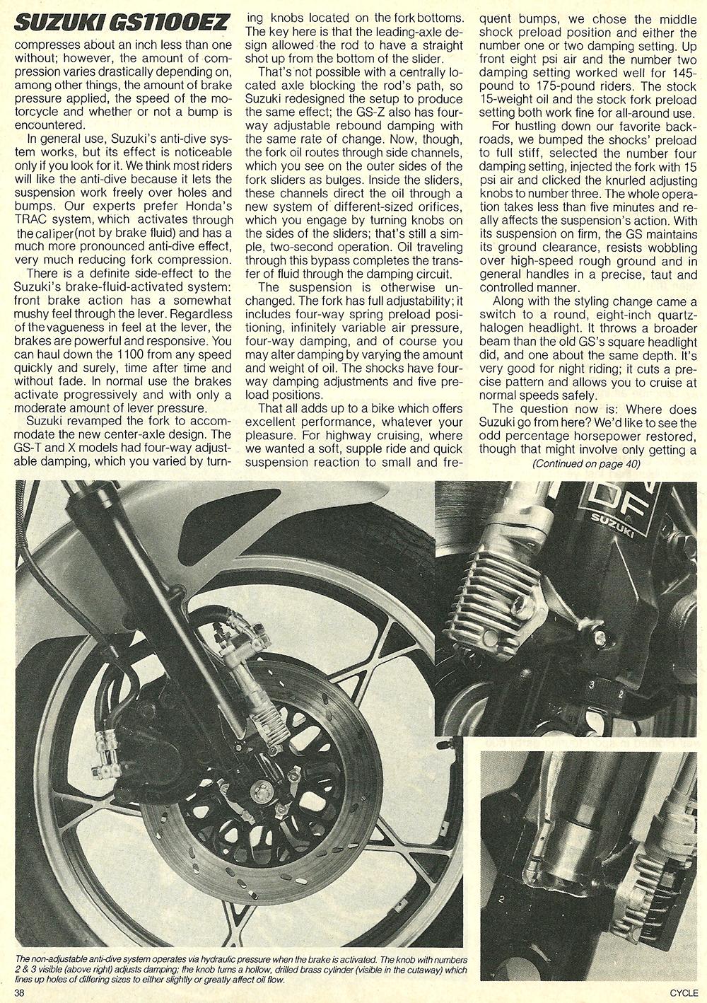 1982 Suzuki GS1100EZ road test 08.jpg