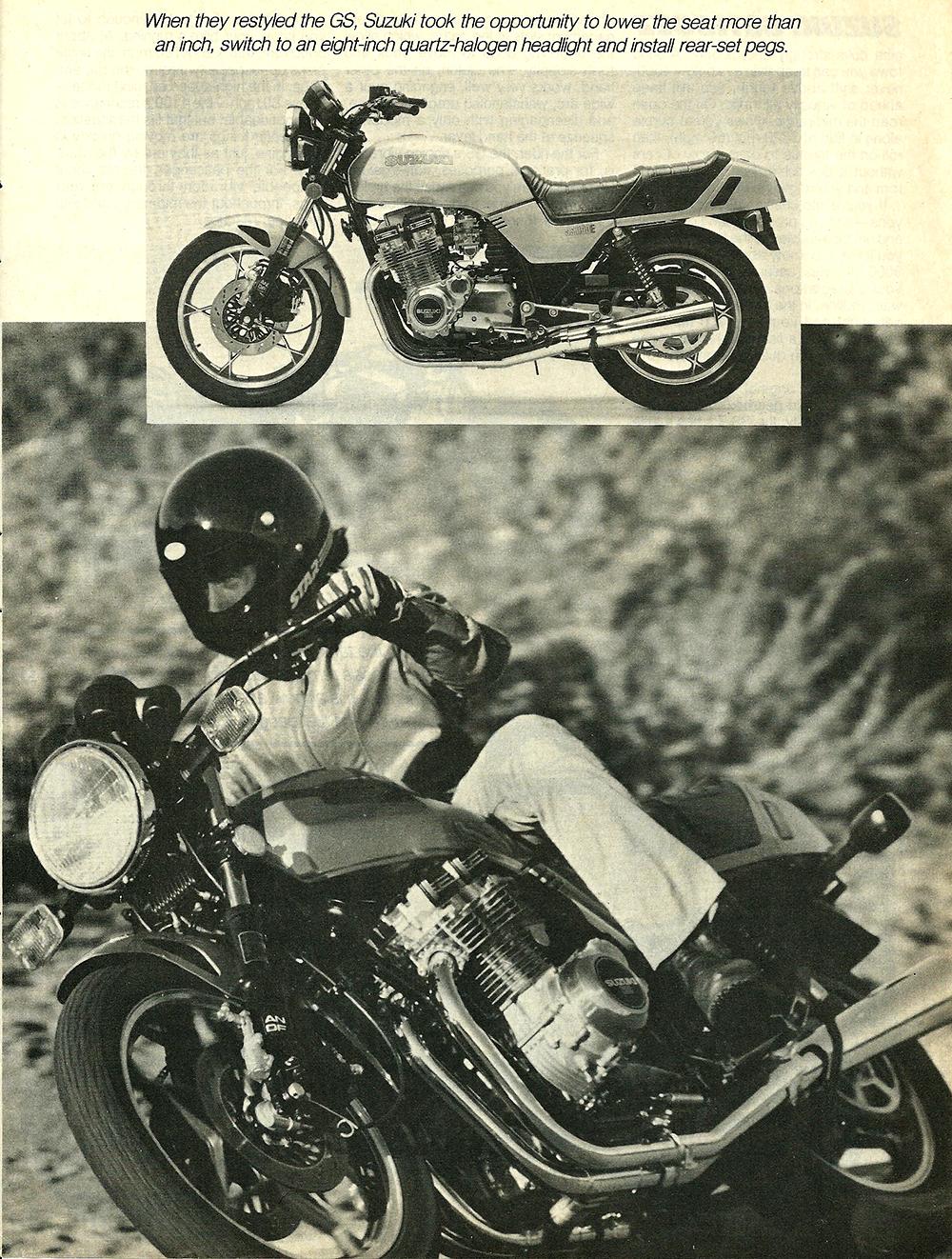 1982 Suzuki GS1100EZ road test 04.jpg