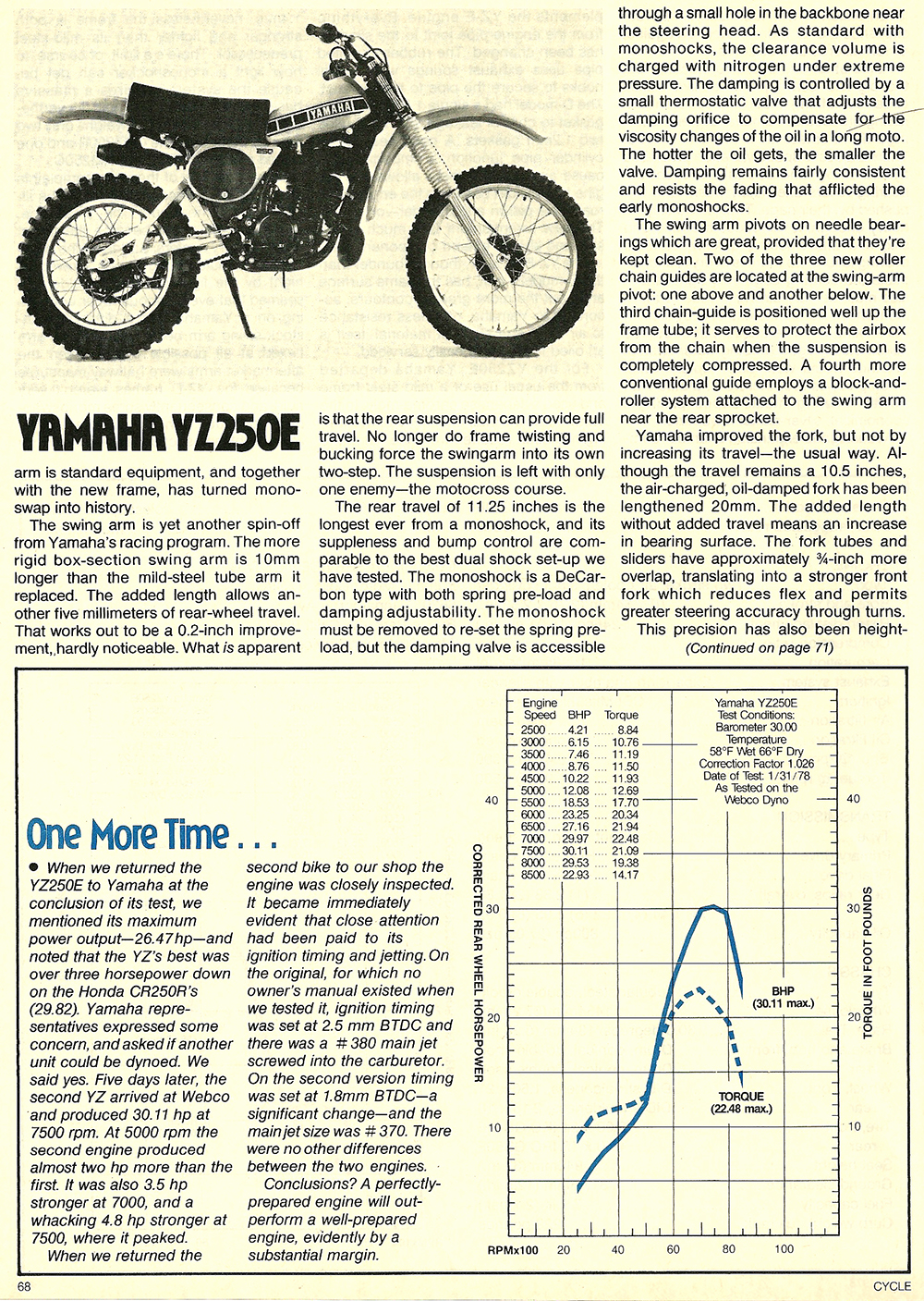 1978 Yamaha YZ250E road test 7.jpg