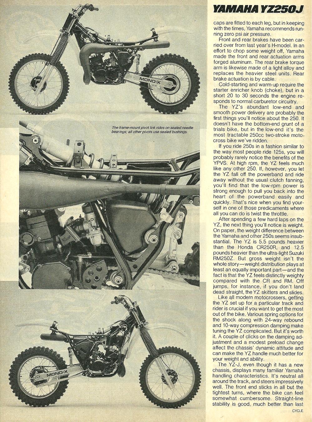 1982 Yamaha YZ250J road test 6.jpg