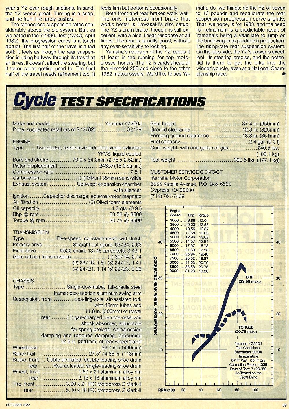 1982 Yamaha YZ250J road test 7.jpg