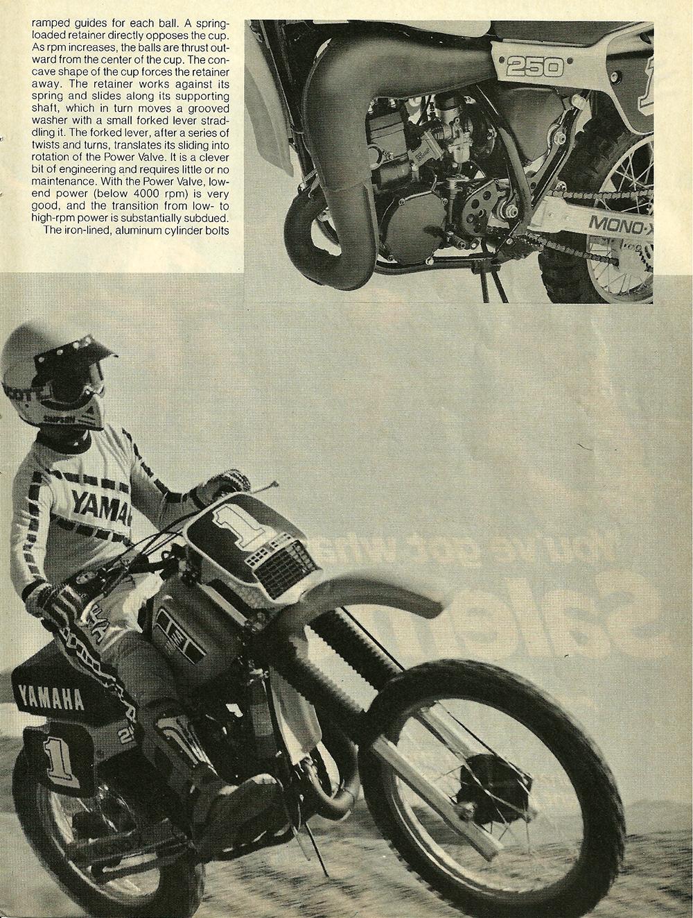 1982 Yamaha YZ250J road test 4.jpg