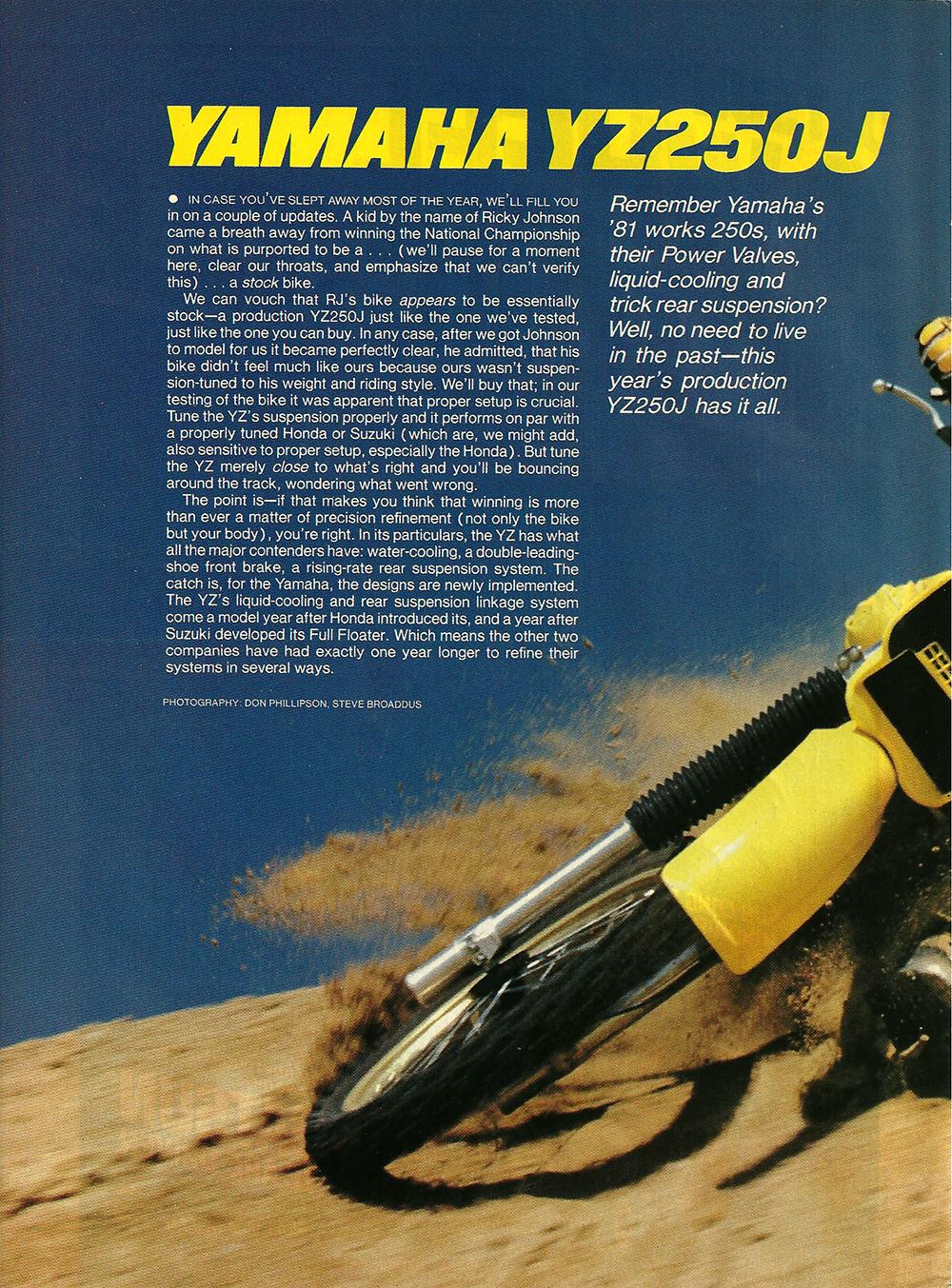 1982 Yamaha YZ250J road test 1.jpg