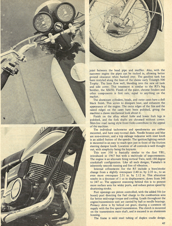 1970 Yamaha R5 350 road test 02.jpg