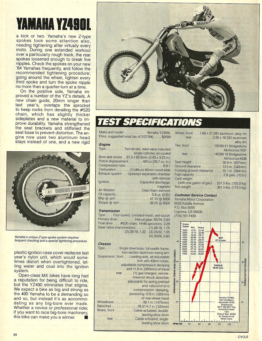 1984 Yamaha YZ490L off road test 7.jpg