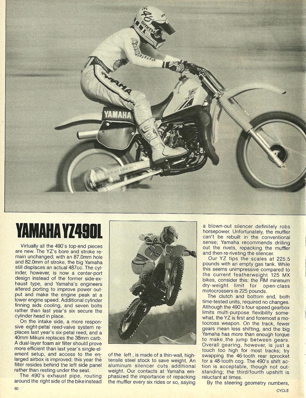 1984 Yamaha YZ490L off road test 3.jpg