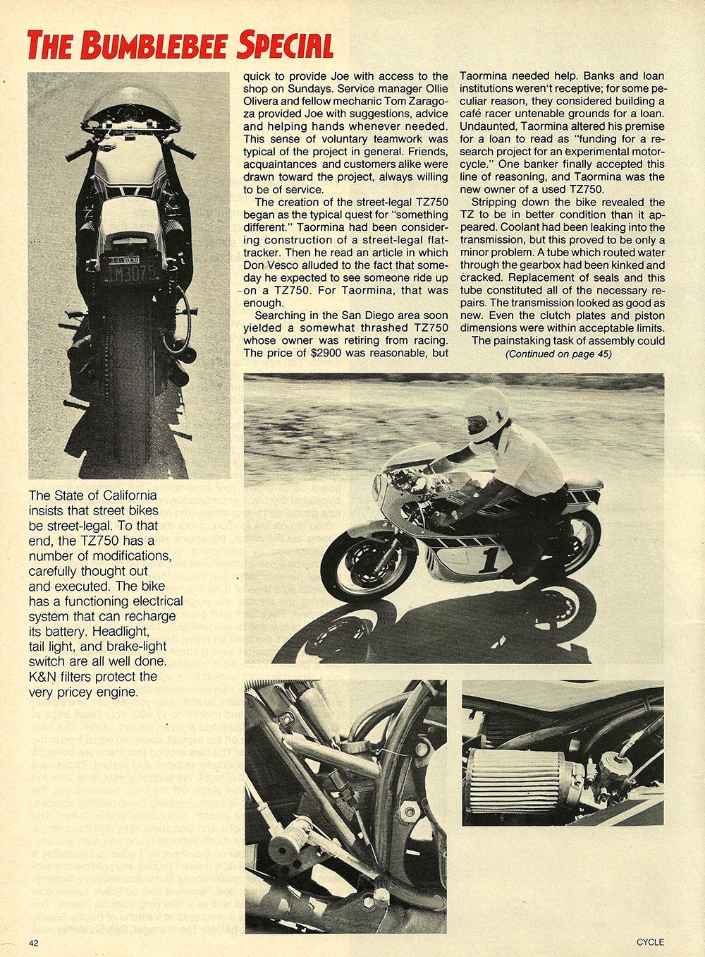 1978 Yamaha TZ750 Bumblebee Special test 03.jpg