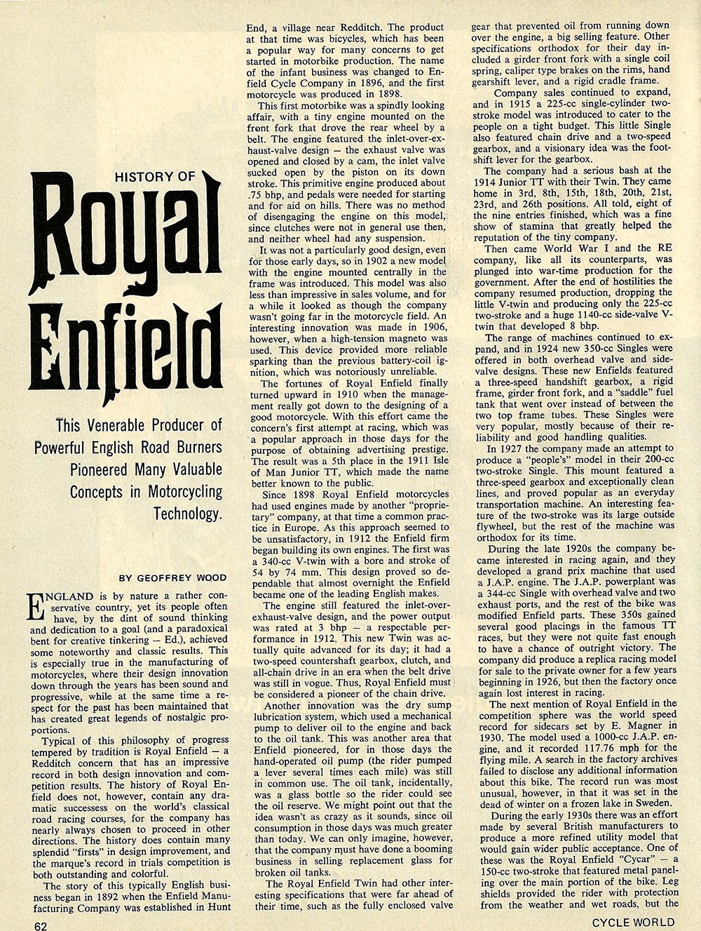 1970 History of Royal Enfield 01.jpg