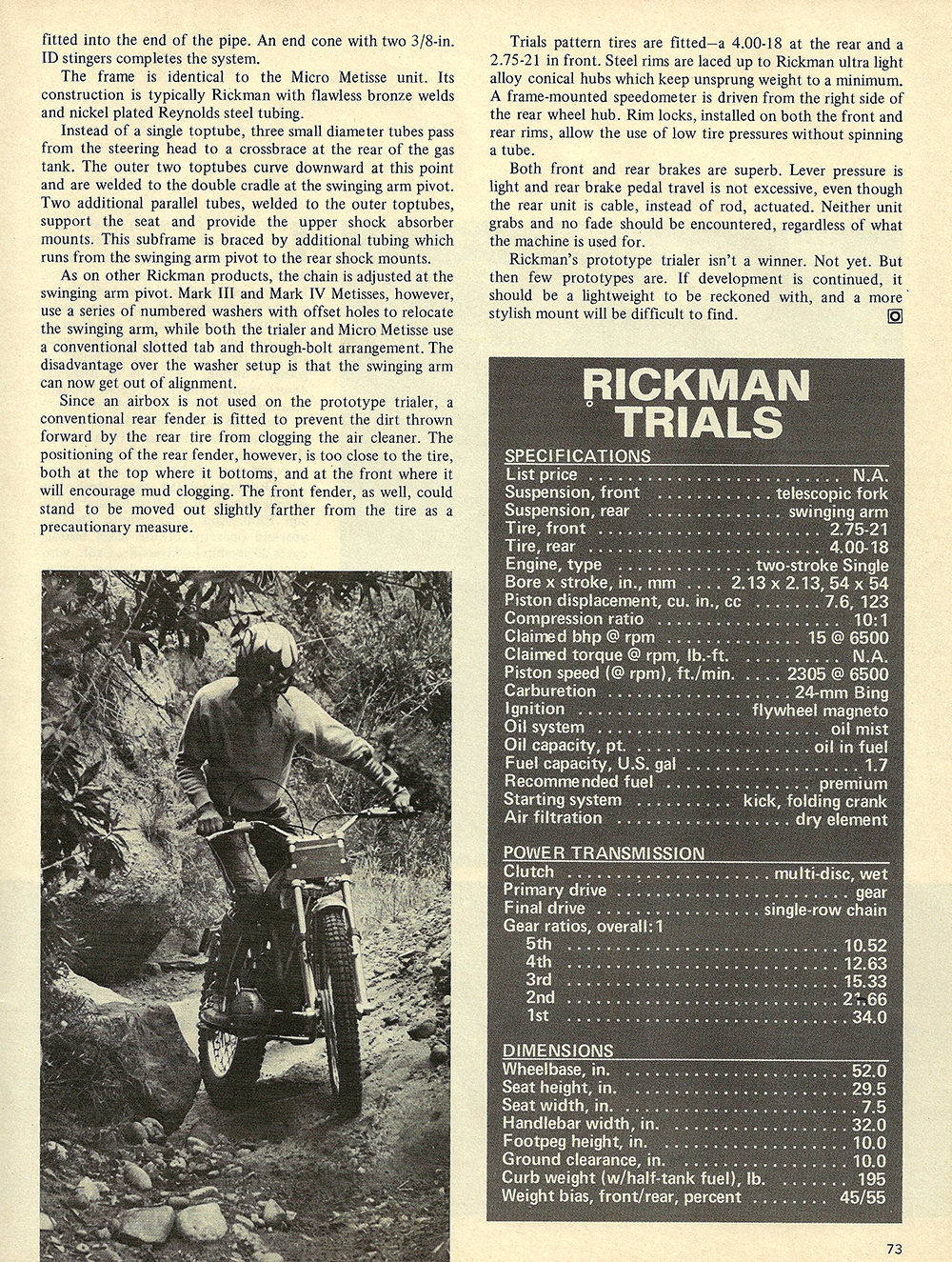 1971 Rickman Trials Prototype road test 02.jpg