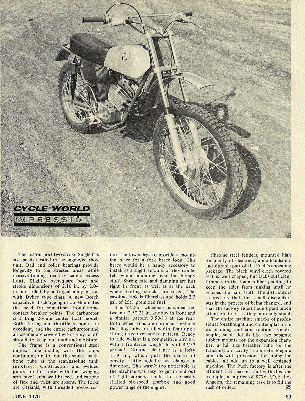 1970 Puch 125 Motocross road test 02.jpg